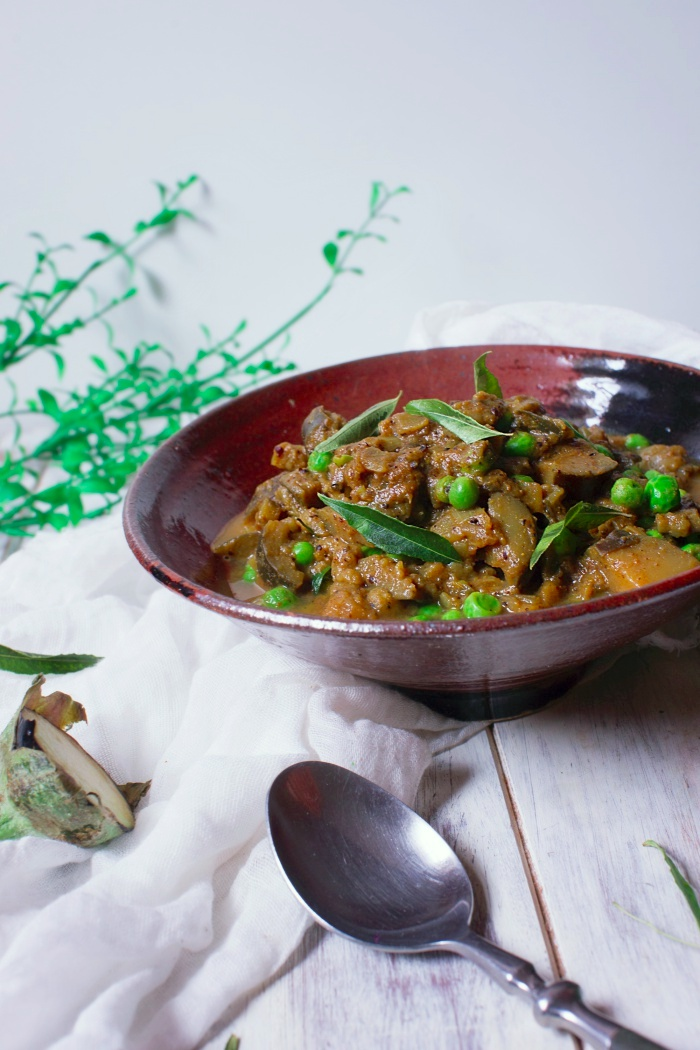 eggplant & pea masala curry